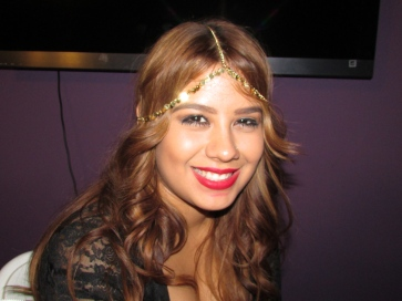 Beautiful headpiece, backstage before the show