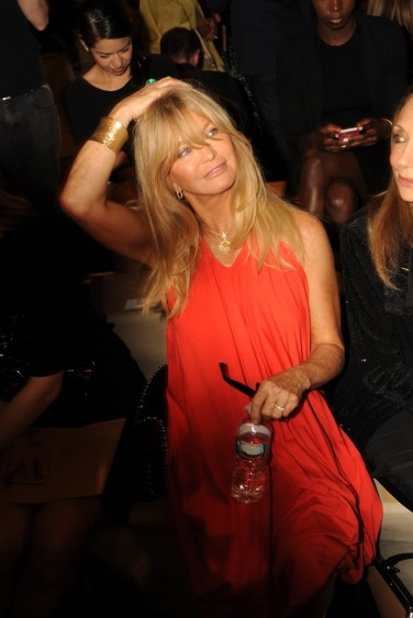 Goldie Hawn at Donna Karen