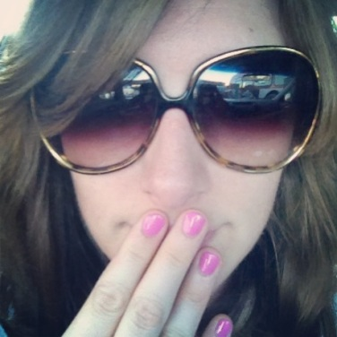 Oh, you think I'm covering my face with sunglasses and hands to be cool and mysterious? Ha! No. Just trying to be in a picture without actually being in a picture.
