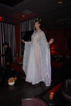 Model Nix Mione wearing Victor Wilde's Bohemian Society