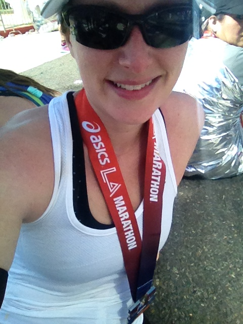 Done! And proudly wearing my medal.